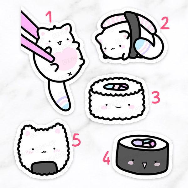 Sushis Cat Diecuts #F035