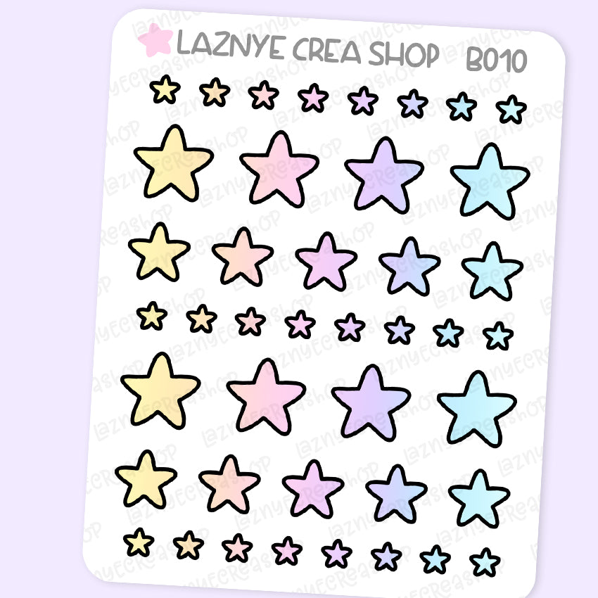 Star Stickers, Rainbow Stickers, Coding Stickers, Code Stickers, Pastel Stickers, Functional Stickers, Planner Stickers, Bullet Journal Stickers, Hand Draw Stickers, Doodle Stickers