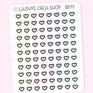 Tiny Heart Stickers, Rainbow Stickers, Coding Stickers, Code Stickers, Pastel Stickers, Functional Stickers, Planner Stickers, Bullet Journal Stickers, Hand Draw Stickers, Doodle Stickers