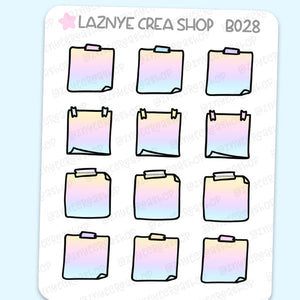 Hobonichi Sticky Note Stickers, Functional Stickers, Planner Stickers, Bullet Journal Stickers, Hand Draw Stickers
