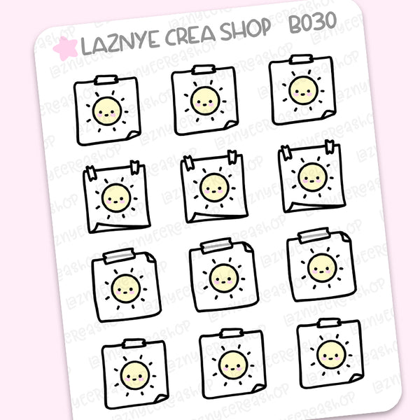 Weather Icon Stickers #B030