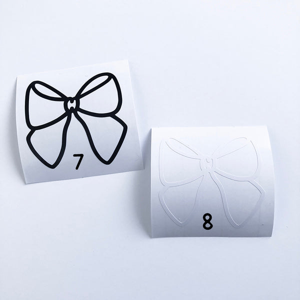 Bow Vinyl Decal #E007