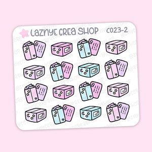 Happy Mail Mini Stickers, Functional Stickers, Mini Sheet, 2$ stickers, Yume the Cat, Pastel Stickers, Functional Stickers, Planner Stickers, Bullet Journal Stickers