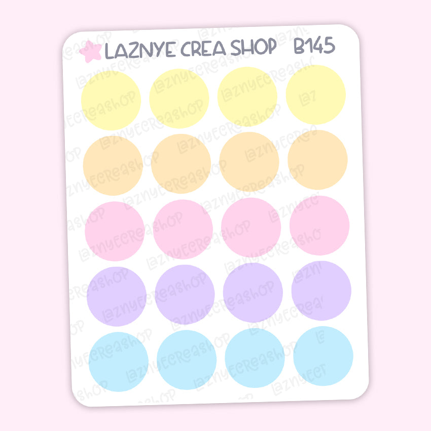 Circle Stickers, Coding Stickers, Deco Stickers, Kpop Bujo Stickers, Functional Stickers, Planner Stickers, Bullet Journal Stickers