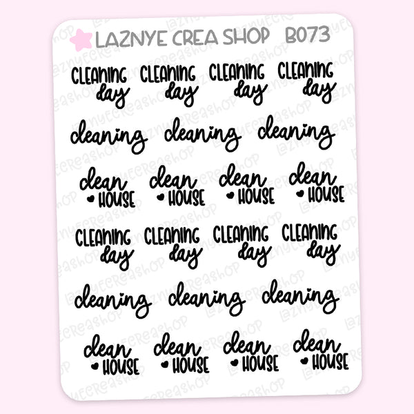 Cleaning Script Stickers #B073