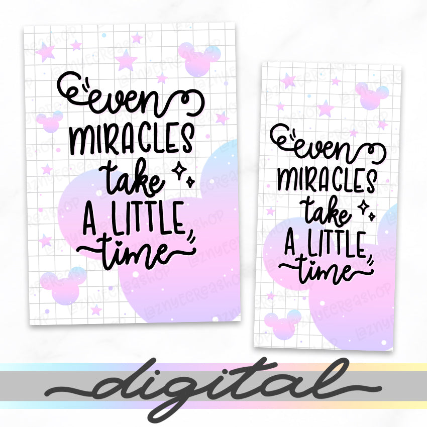 Printable Miracles Quote Planner Dashboard, Magic, Cover Print Cover B6 A6 A5 Mini Happy Planner Pocket Personal Wide Hobonichi Micro TN Inserts PDF