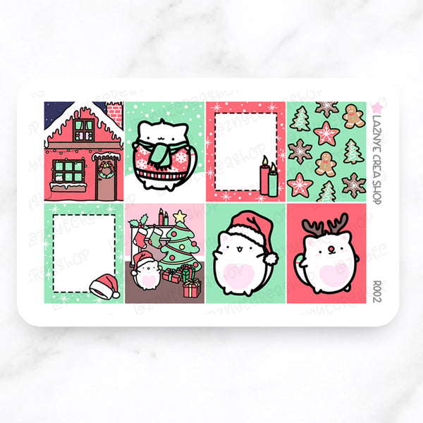 Christmas Weekly Sticker Kit #R002