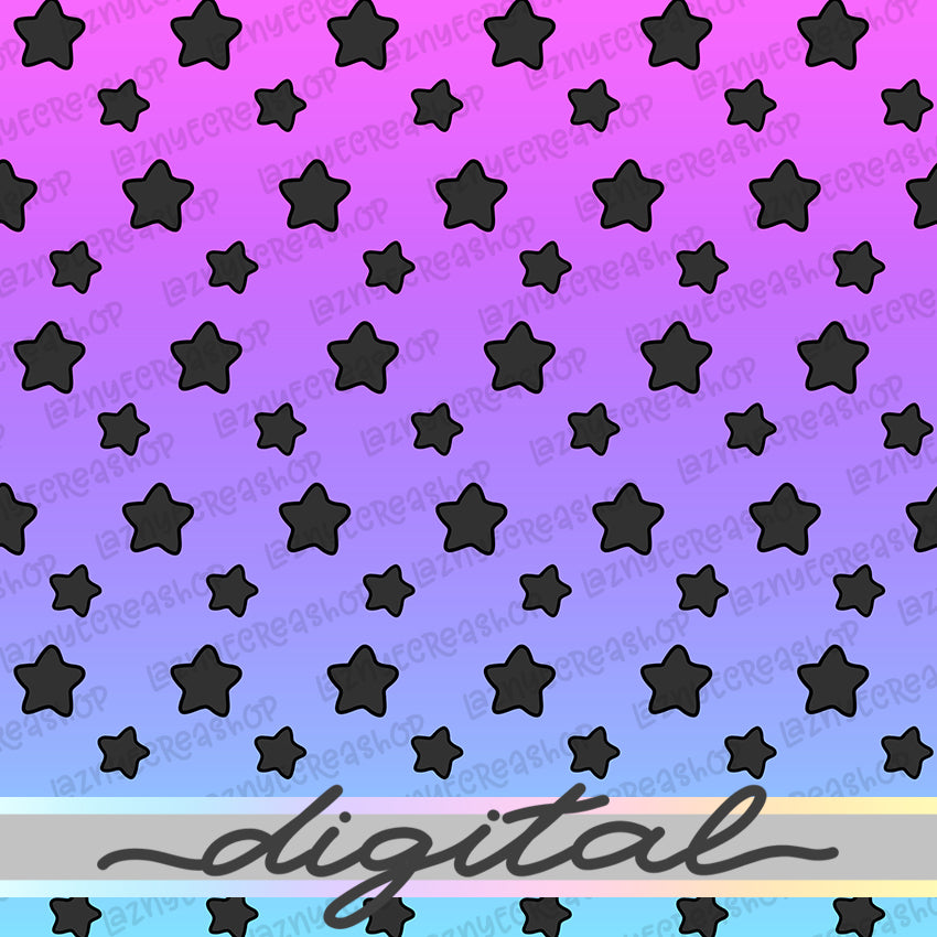 Printable Halloween Digital Paper, Spooky Paper, Star, Pastel Goth, Paper Vellum, Doodle, Hand Draw, Cute, Bullet Journal, TN Vellum, JPG, PDF, Download