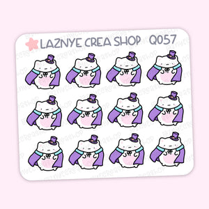 Halloween Cat Mini Stickers, Spooky, Mini Sheet, 2$ stickers, Yume the Cat, Pastel Stickers, Planner Stickers