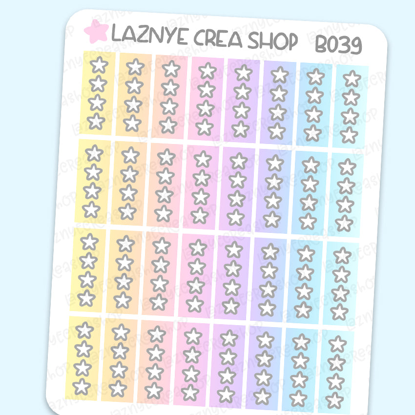 Star Checklist Stickers, Hobonichi Stickers, To Do Stickers, Rainbow Stickers, Pastel Stickers, Functional Stickers, Planner Stickers, Bullet Journal Stickers, Hand Draw Stickers, Doodle Stickers