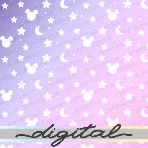 Magical Space Digital Planner Paper, Moon, Star, Magical, Wizzard, Halloween, Pastel, Cute Cat, Paper Vellum, Doodle, Hand Draw, Cute, JPG, PDF, Download