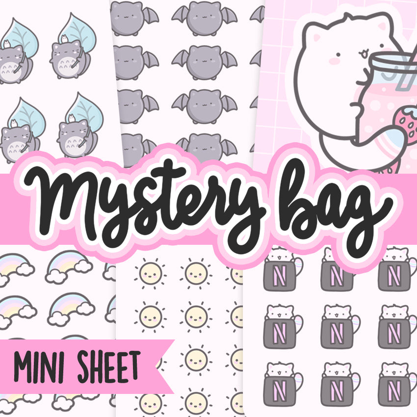 Mystery sticker pack, Cat Stickers, Planner Stickers, Random Stickers, Bullet Journal Stickers, Hand Draw Stickers, Doodle Stickers