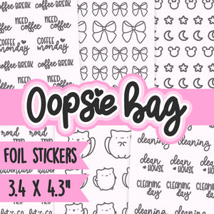 60% OFF Oopsie Foil sticker bags #P006