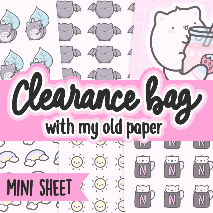 Clearance Grab Bags, Sale Stickers, Mystery sticker pack, Cat Stickers, Planner Stickers, Random Stickers, Bullet Journal Stickers, Hand Draw Stickers, Doodle Stickers