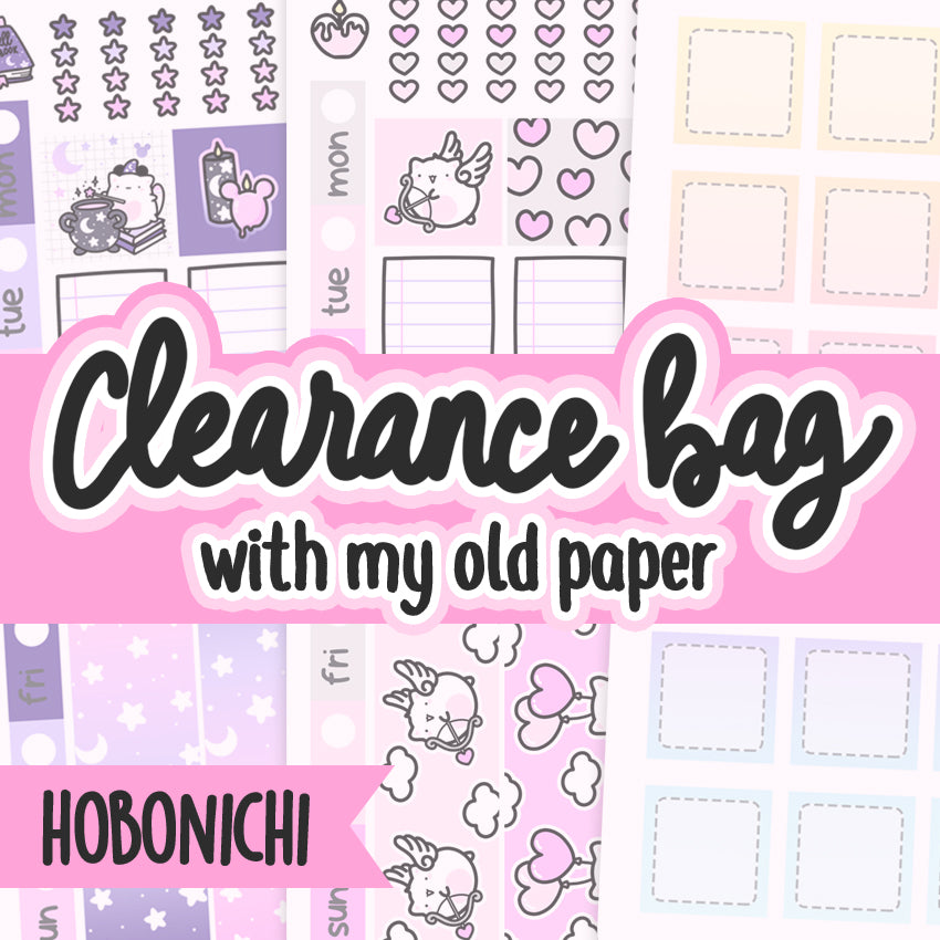 Clearance Hobonichi Grab Bags, Mystery sticker pack, Cat Stickers, Planner Stickers, Random Stickers, Bullet Journal Stickers, Hand Draw Stickers, Doodle Stickers