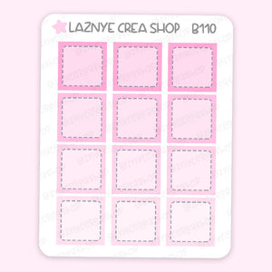 Pink Hobonichi Box Stickers, Functional Stickers, Planner Stickers, Bullet Journal Stickers, Hand Draw Stickers