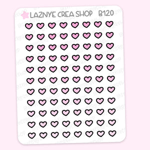 Tiny Heart Stickers, Pink Stickers, Coding Stickers, Code Stickers, Pastel Stickers, Functional Stickers, Planner Stickers, Bullet Journal Stickers, Hand Draw Stickers, Doodle Stickers