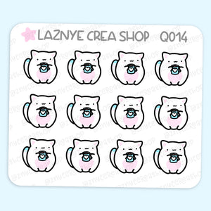 Coffee Cat Mini Stickers, Winter, Christmas, Cat Stickers, Mini Sheet, 2$ stickers, Yume the Cat, Pastel Stickers, Planner Stickers, Bullet Journal Stickers, Hand Draw, Doodle