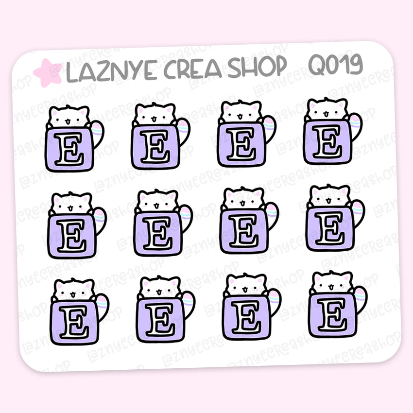 Social Icon Cat Stickers, Social Media, Mini Sheet, 2$ stickers, Yume the Cat, Fall, Autumn, Pastel Stickers, Functional Stickers, Planner Stickers, Bullet Journal Stickers, Hand Draw, Doodle