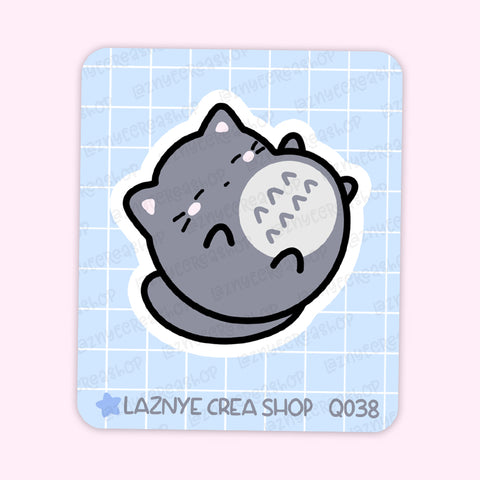 Anime Cat Maxi Sticker, 2$ stickers, Yume the Cat, Pastel Stickers, Planner Stickers, Bullet Journal Stickers, Hand Draw, Doodle