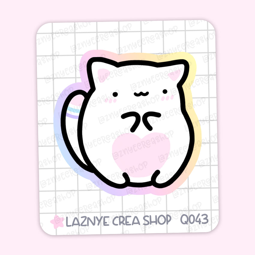ume the Cat Maxi Sticker, 2$ stickers, Yume the Cat, Pastel Stickers, Planner Stickers, Bullet Journal Stickers, Hand Draw, Doodle