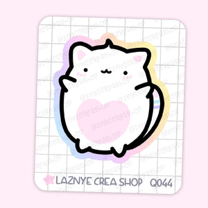 Yume the Cat Maxi Sticker, 2$ stickers, Yume the Cat, Pastel Stickers, Planner Stickers, Bullet Journal Stickers, Hand Draw, Doodle