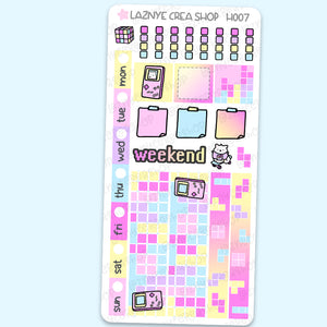 80's Hobonichi Weeks Stickers Kit, Video Game Stickers, Retro Hobonichi Stickers, 80s Stickers, Holdschool Hobonichi Stickers, Functional Stickers, Planner Stickers, Hand Draw Stickers, Doodle Stickers