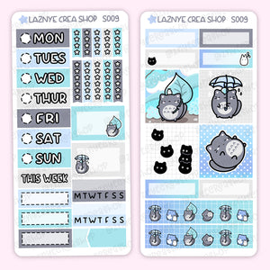 Anime Print Pression Weeks Stickers Kit, Planner Stickers, Hand Draw Stickers, Doodle Stickers