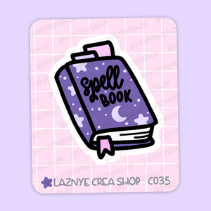 Spell Book Maxi Sticker, Magical, Halloween, 2$ stickers, Yume the Cat, Pastel Stickers, Planner Stickers, Bullet Journal Stickers, Hand Draw, Doodle