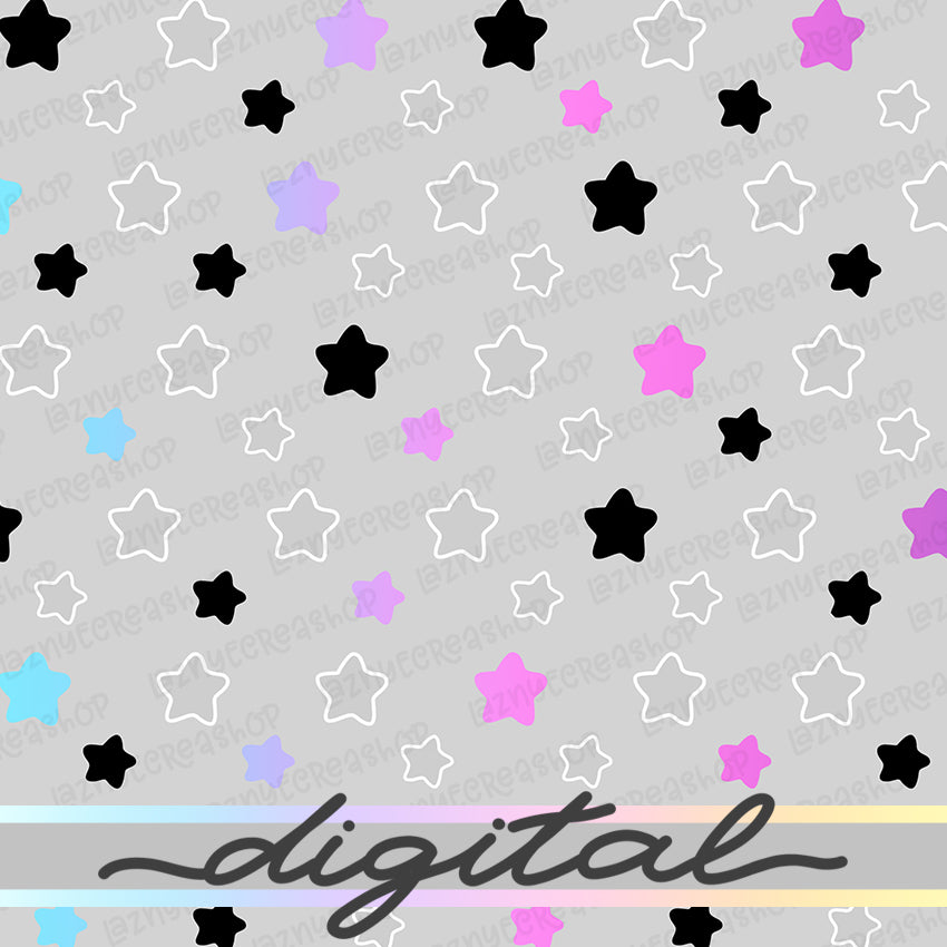 Printable Star Digital Planner Paper, Star, Spooky, Halloween, Moon Phase, Moon Child, Pastel Goth, Paper Vellum, Doodle, Hand Draw, Cute, Bullet Journal, TN Vellum, JPG, PDF, Download