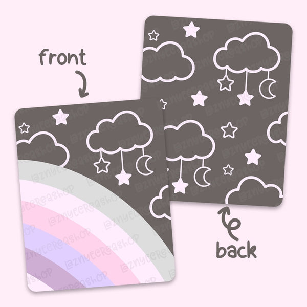 Pink Rainbow Sticker Pocket #L001