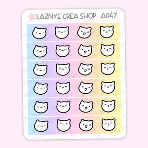 Rainbow Cat Washi Stickers, Rainbow Washi Stickers, Pastel Planner Stickers, Bullet Journal Stickers, Hand Draw Stickers, Doodle Stickers