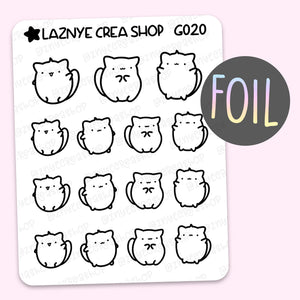 Yume The Cat Foil Stickers #G020