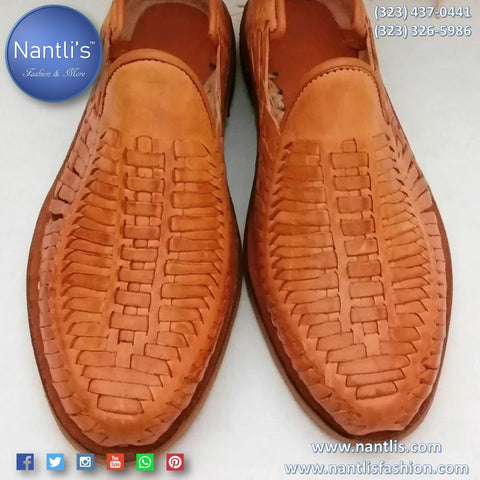 Leather Huaraches for men - Handwoven Shoes