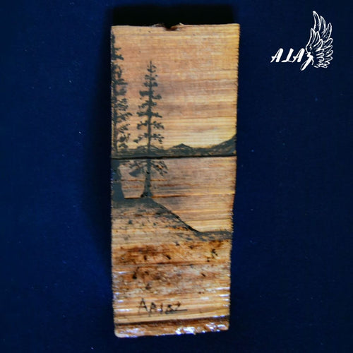 Peaceful View Pyrography artwork by Mateo Ariaz