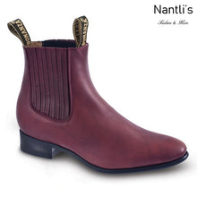 Load image into Gallery viewer, Botines de Charro BA106 Burgundy - Paddock Boots