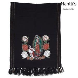 Rebozo Mexicano TM73421 Black Mexican Shawl