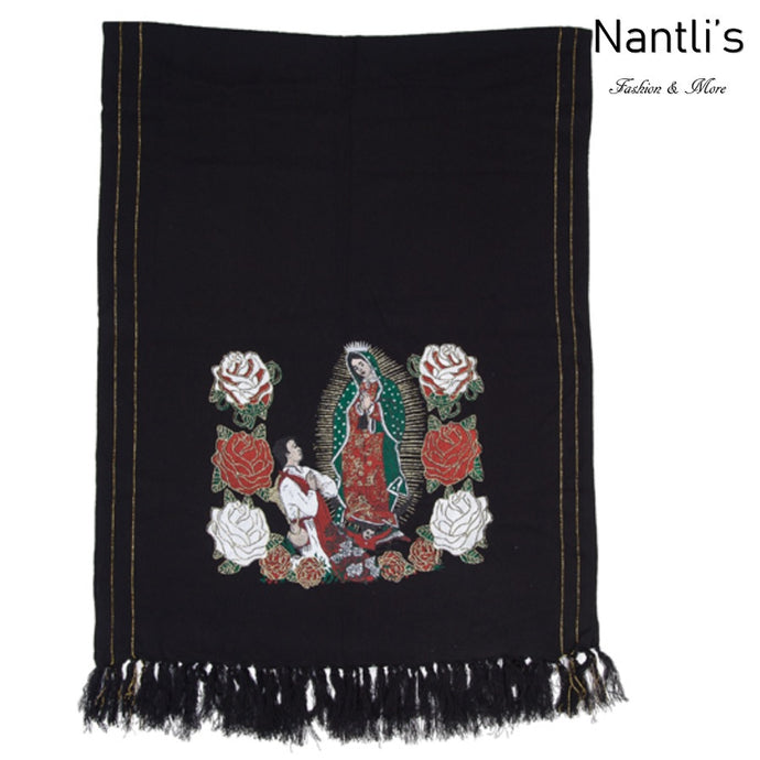 Rebozo Mexicano TM-73421 Black Mexican Shawl