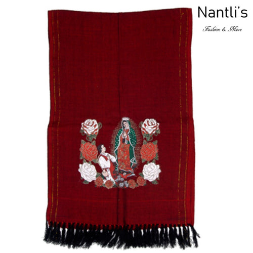 Rebozo Mexicano TM73421 Red Mexican Shawl
