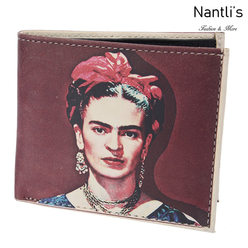 Billetera de Piel - TM-41149 Frida Kahlo Leather Wallet