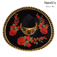 Load image into Gallery viewer, Sombrero Charro TM-71235 Black-Golden - Charro Hat