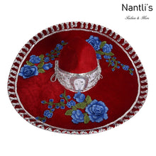 Load image into Gallery viewer, Sombrero Charro TM-71235 Red-Silver - Charro Hat