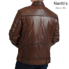 Load image into Gallery viewer, Chamarra de piel para Hombre TM-WD1819 Leather Jacket for Men rear view