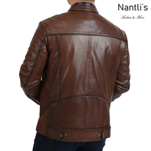 Chamarra de piel para Hombre TM-WD1819 Leather Jacket for Men rear view