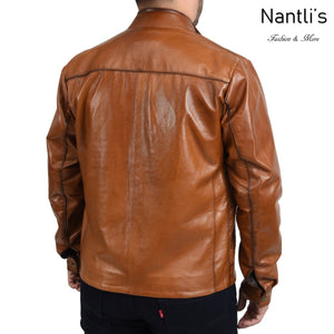 Chamarra de piel para Hombre TM-WD1820 Leather Jacket for Men rear view