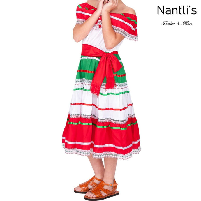 Vestido Mexicano Patrio de Niña TM74126 - Girls Dress