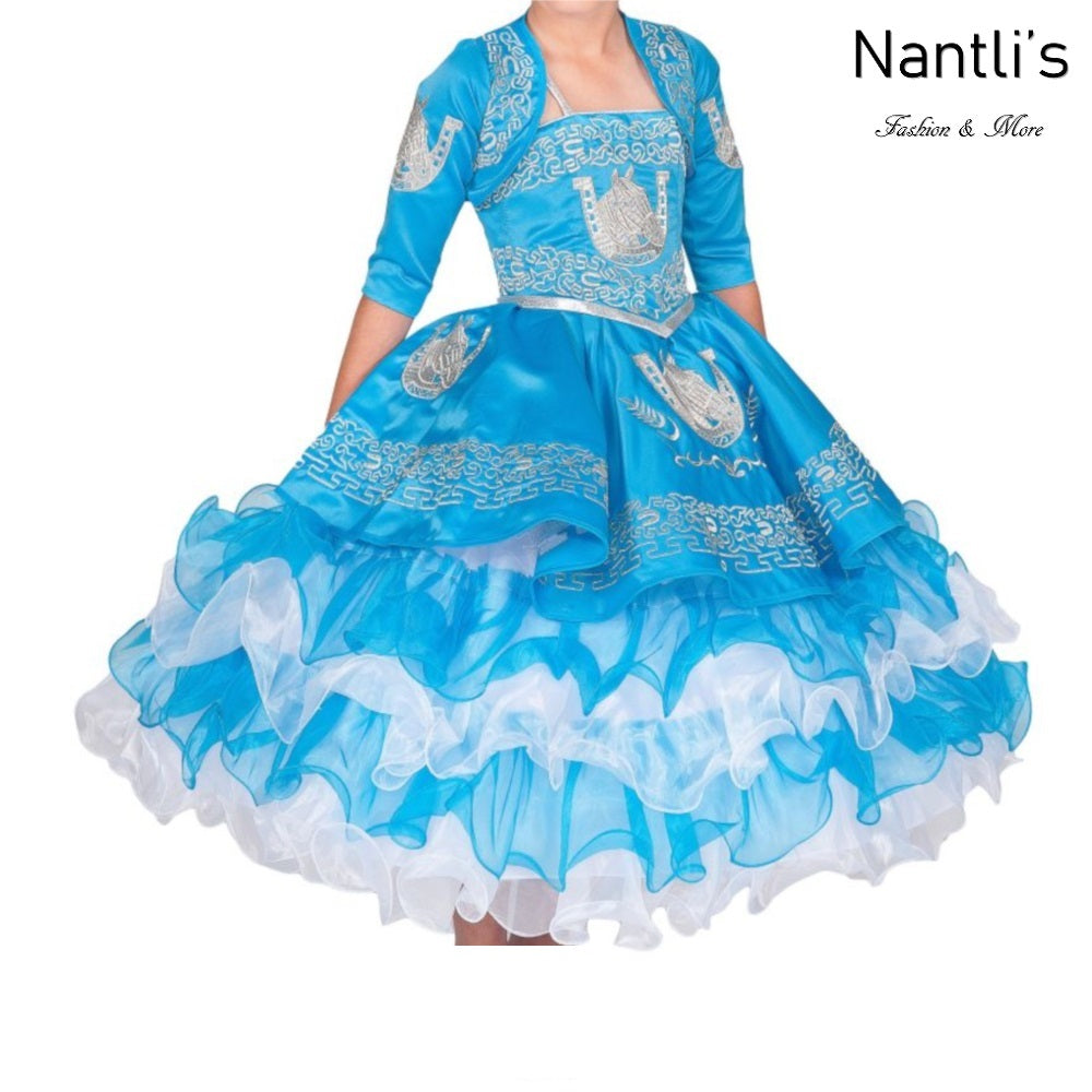 Traje Charro de Niña TM76220 Blue-Silver - Charro Suit for Girls