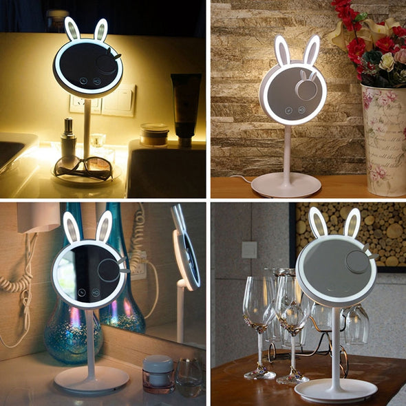 BRELONG Bunny Beauty Eye Protective Makeup Mirror Table Lamp