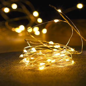 YEDUO Copper Wire LED String Lights Night For Garland Fairy Christmas Tree