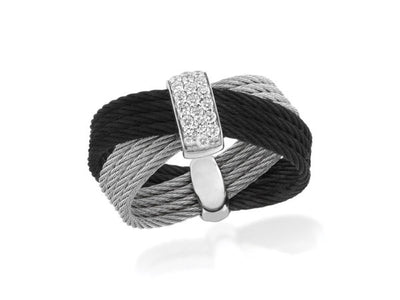 Alor Classique Black & Grey Cable Ring